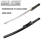 Emperor Wakizashi With Black High Gloss Scabbard (Saya)